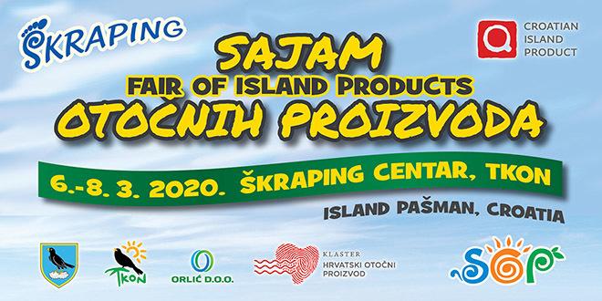 Pozivnica na 11. Sajam otočnih proizvoda u Tkonu za vrijeme Škrapinga 6. – 8. 3. 2020.